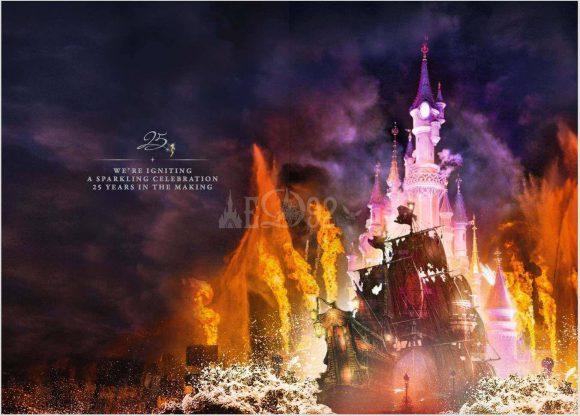 Pirates of the Caribbean in Disney Illuminations Disneyland Paris 25th Anniversary