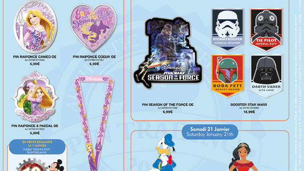Disneyland Paris Pins January 2017 - Star Wars, Ducks & Rapunzel