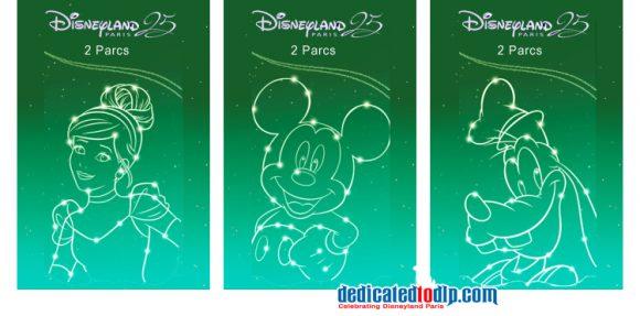 Disneyland Paris 25th Anniversary Tickets 2 Parcs
