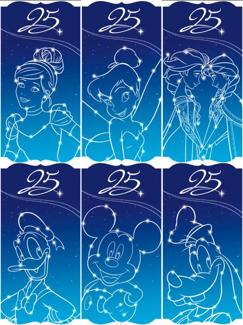 Disneyland Paris 25th Anniversary Artwork