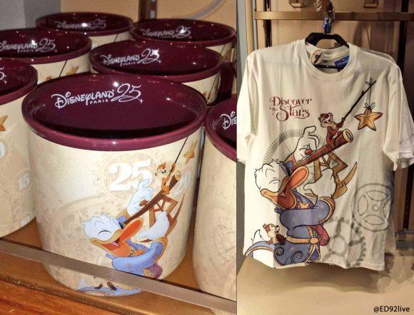 Disneyland Paris 25th Anniversary Donald Duck, Chip & Dale Mug