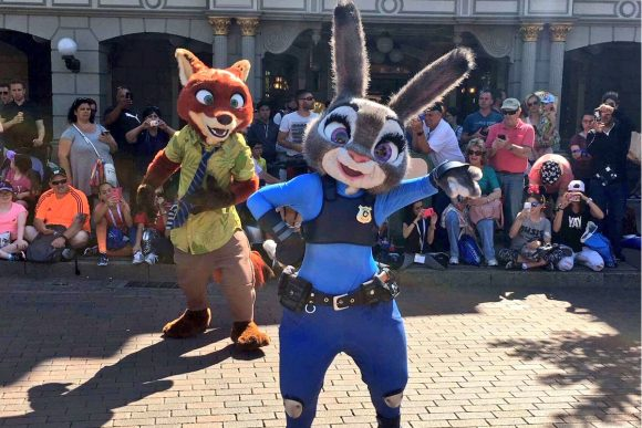 Zootopia Characters in Disneyland Paris Pre Parade