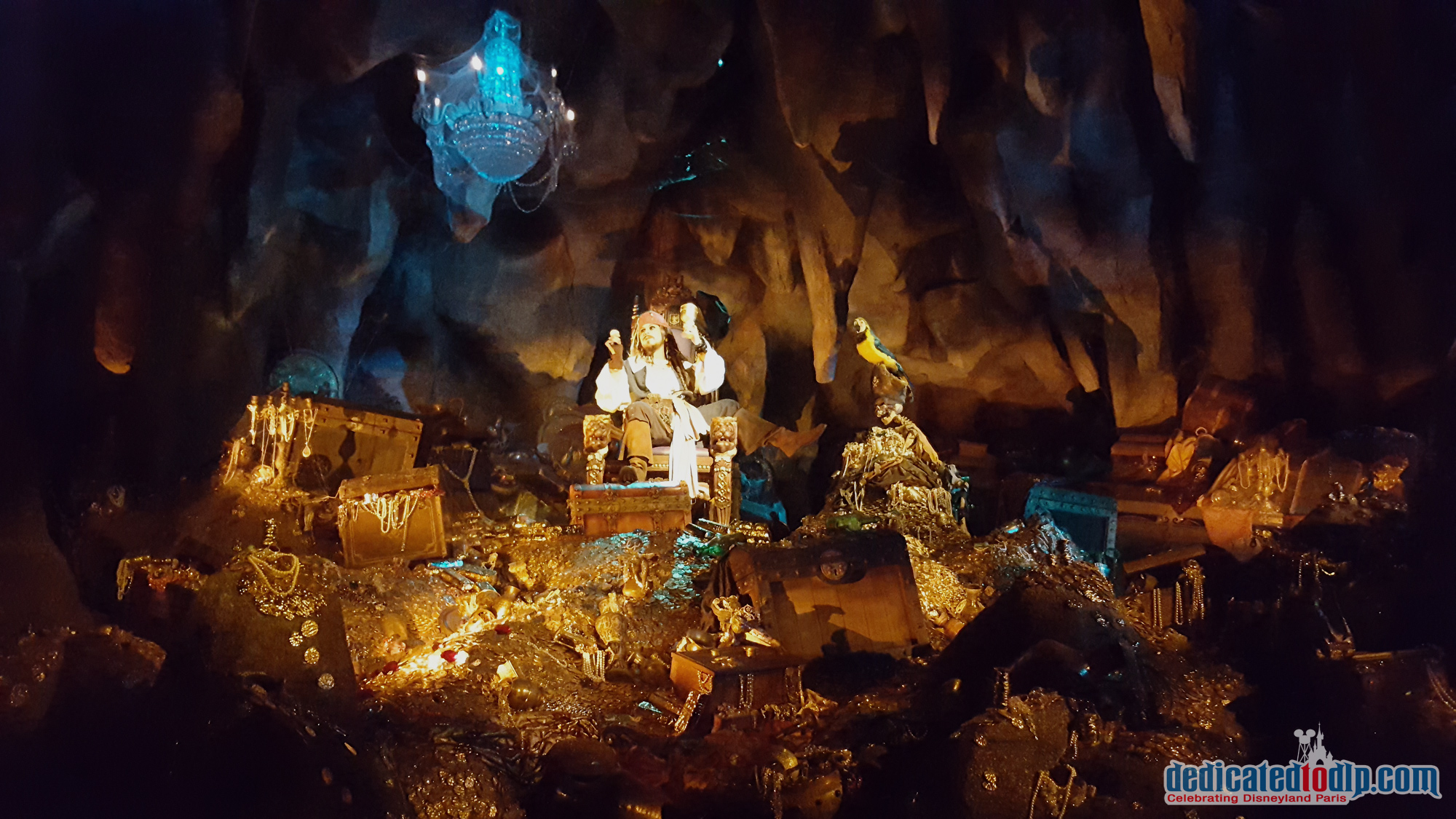 Captain Jack in Pirates of the Caribbean in Disneyland Paris