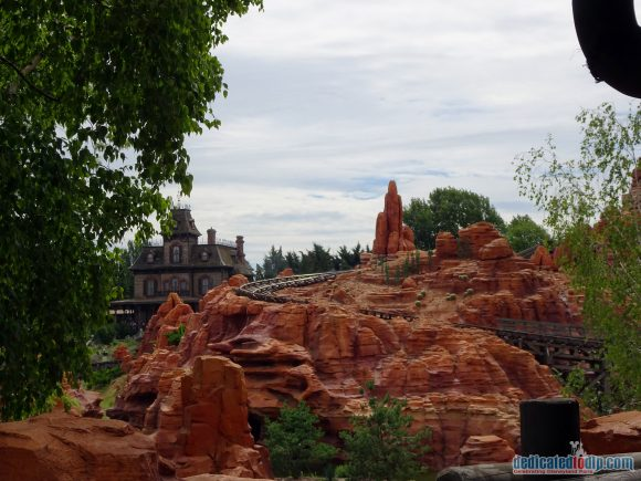 From the Queue of Big Thunder Mountain in Disneyland Paris