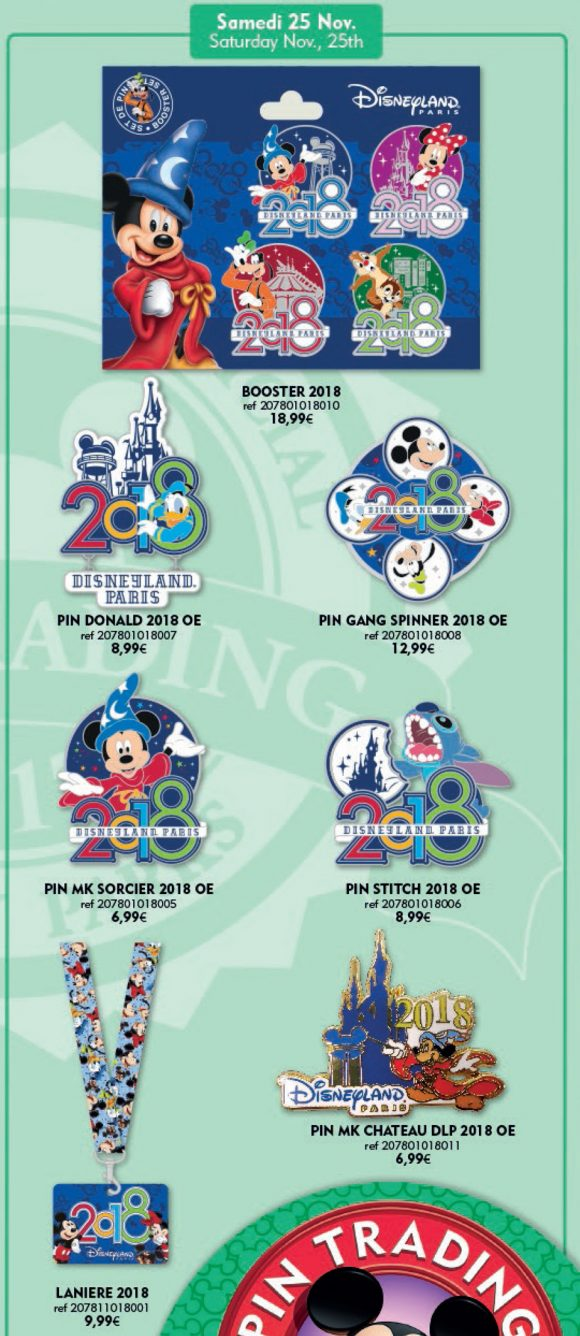 Disneyland Paris Pins For November 25th 2017