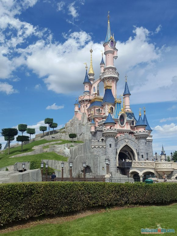Sleeping Beauty Castle in Disneyland Paris Side View