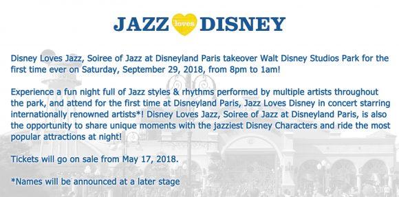 Jazz Loves Disney in Disneyland Paris