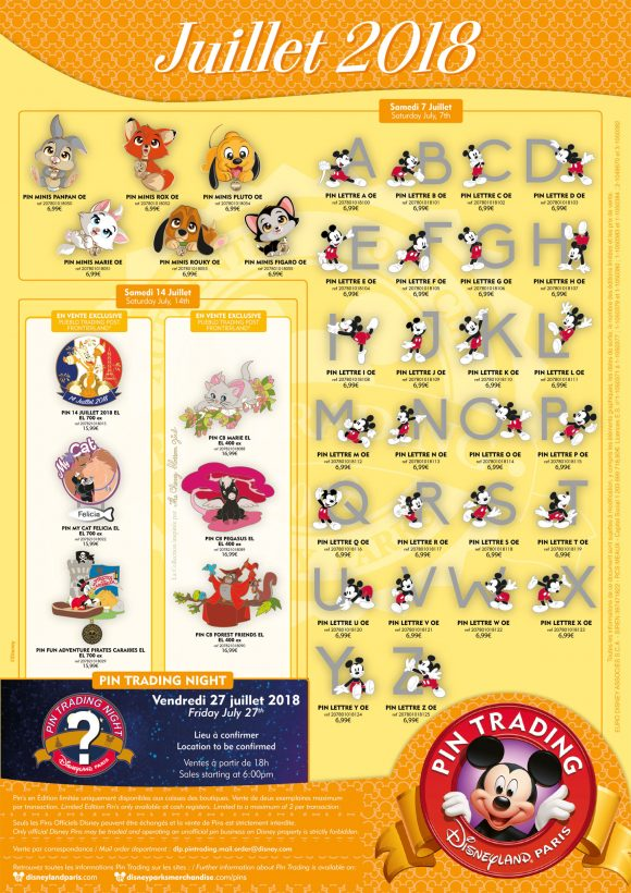 Disneyland Paris Pins For July 2018 - The Best Pirates of the Caribbean Pin, Cute Characters and So Many Mickey Pins