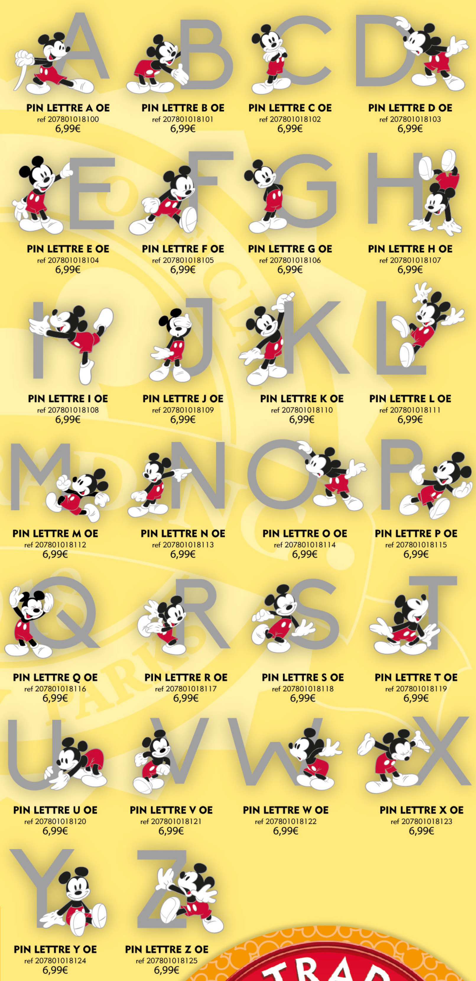 Disneyland Paris Pins For July 7th 2018
