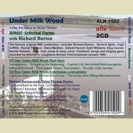 Dylan Thomas | Under Milk Wood | BBC (1954) | Cover (back)