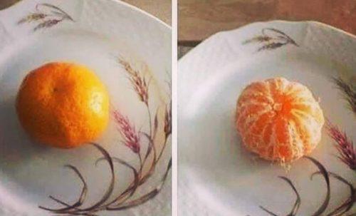 enkel fruktsalat - mandarin