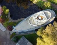 Kulturhafen Riverboat von oben