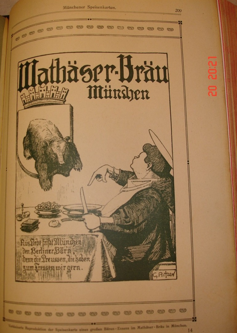 Grosses Bärenessen im Mathäser-Bräu München