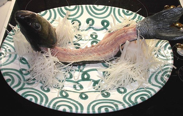 Sashimi vom Wolfsbarsch