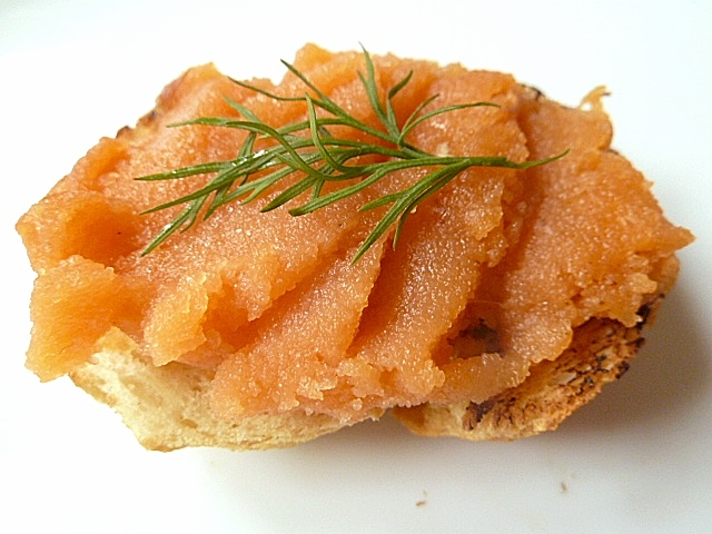 Canapes mit Fischbelag