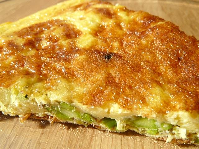 Frittata mit grünen Spargel
