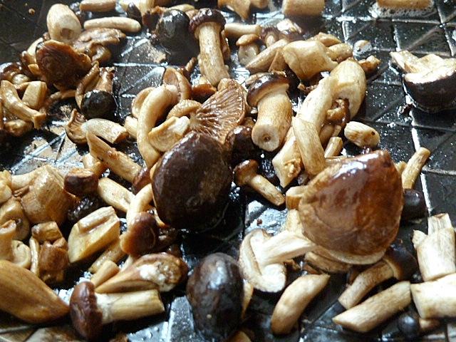 Kalbfleisch kurz gebraten mit Pioppini Pilzen