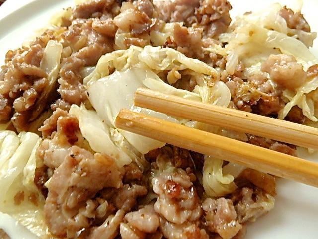 Schweinehack asiatisch mit Chinakohl