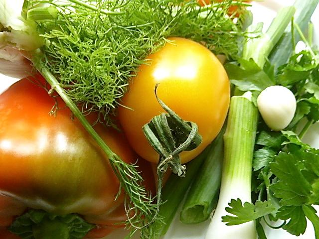 Rindfleischsalat mit Tomate, Fenchel, Paprika und Kräutern