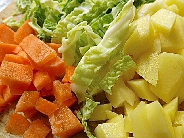 Die Gemüseeinlage