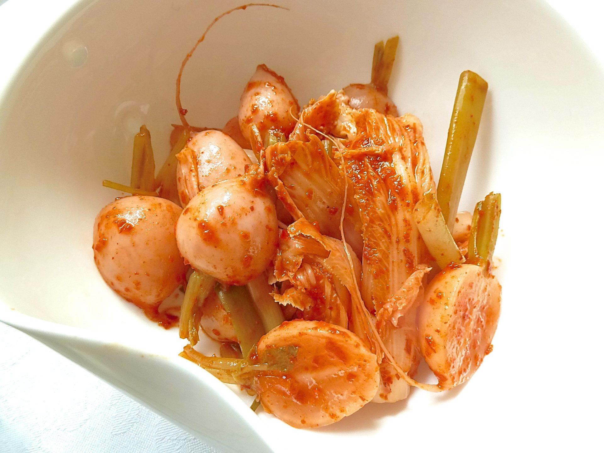Kimchi mit Chili-Hühnchen