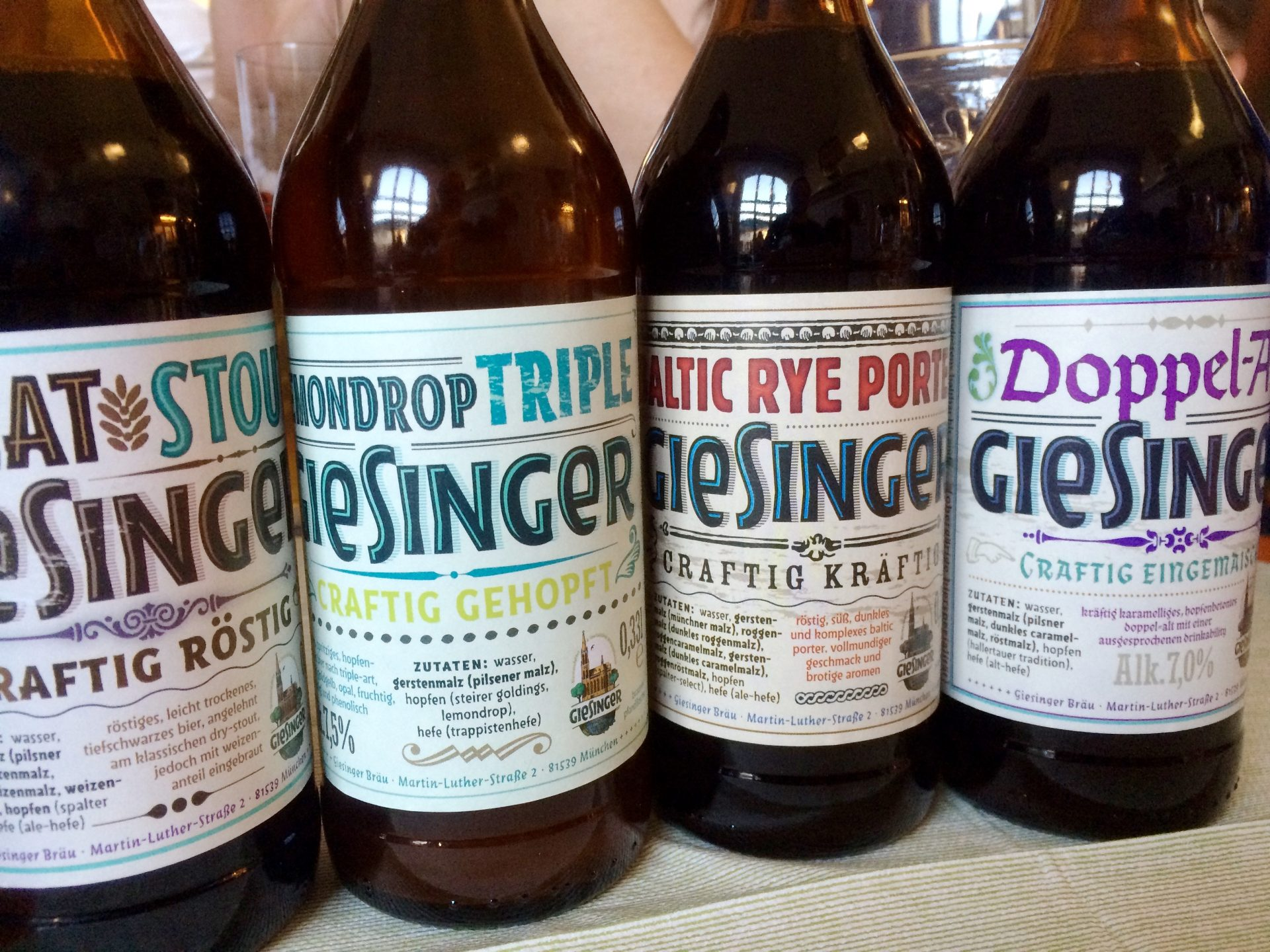 Giesinger Bräu – 4 neue Craft-Biersorten