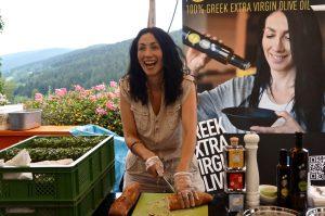 Schöne, griechische Olivenöle gab es bei Spyridoula Kagiaoglou zu probieren