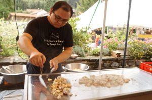 Xiao Wang und Heiko Arndt - der köstliche Osten Profis am Herd(Heiko) Garnelen mit gebratenen Nudeln