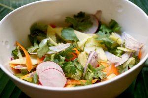 für die säuerliche Komponente ein fruchtiger Salat