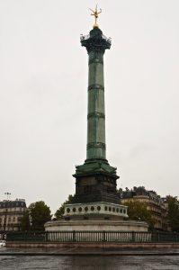 zurück über die Place de la Bastille