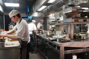 und der Blick in die Küche natürlich auch
