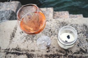 Ruinart Brut Rosé und Trüffel-Amuse -Geule