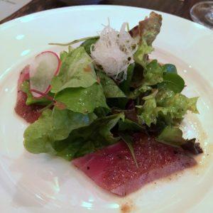 Salat, Thunfisch Sashimi & Matsuhisa Dressing