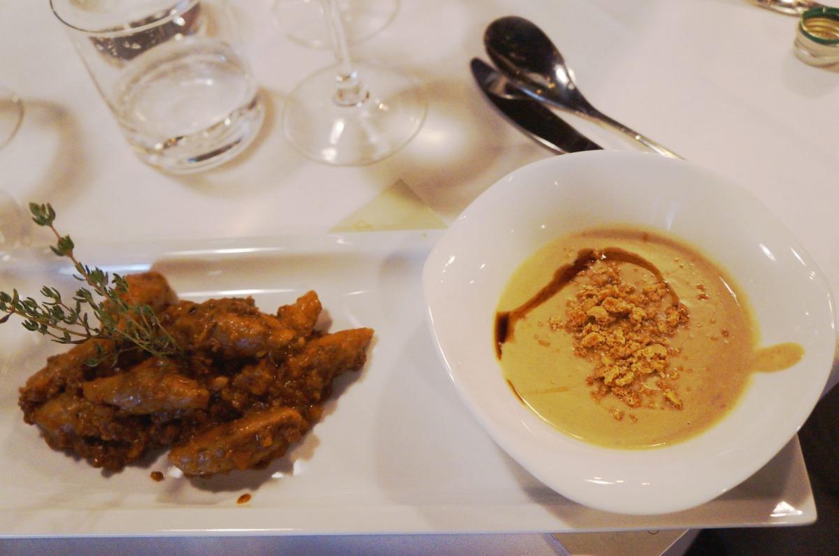 Maronensuppe mit Involtini