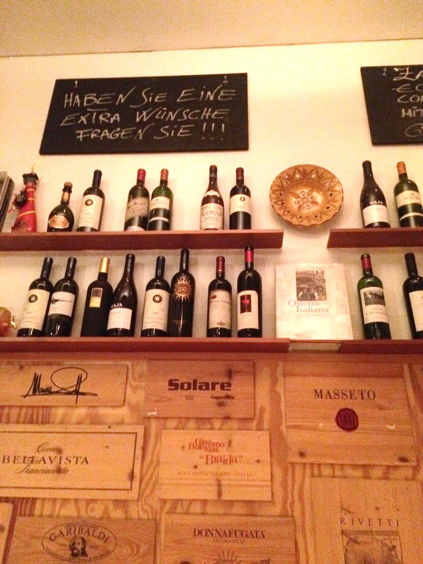 in der Bar der Osteria