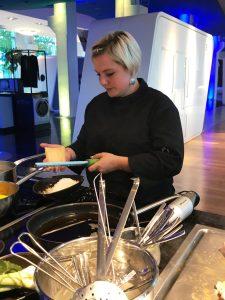 die Küchenchefin