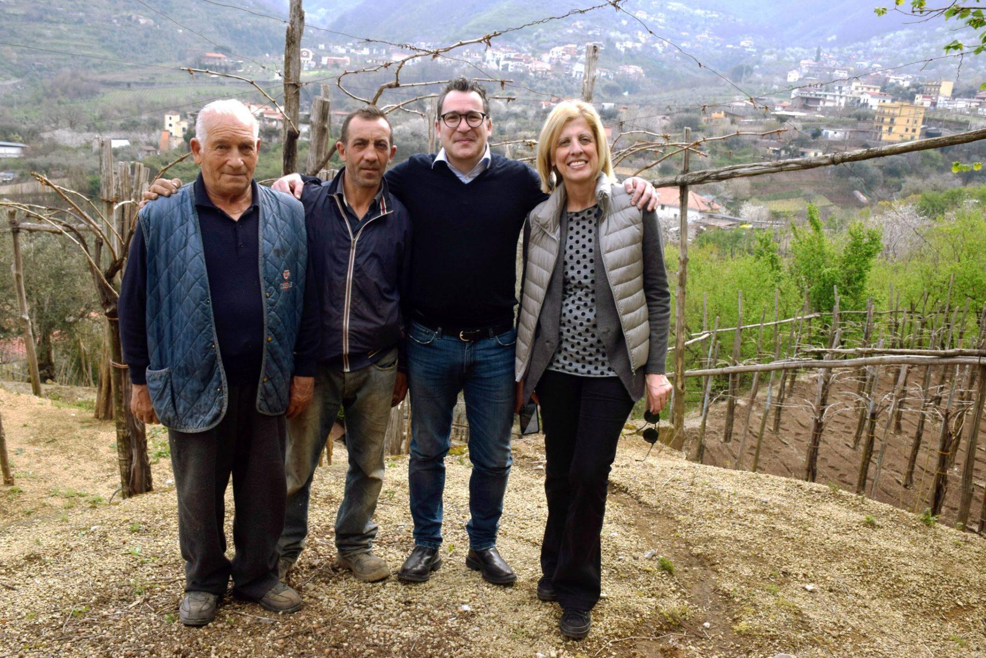 Im Weinberg bei Gilda und Salvatore Martusciello –  Abends bei Sclavia