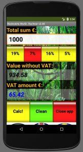 German Backwards VAT calculator