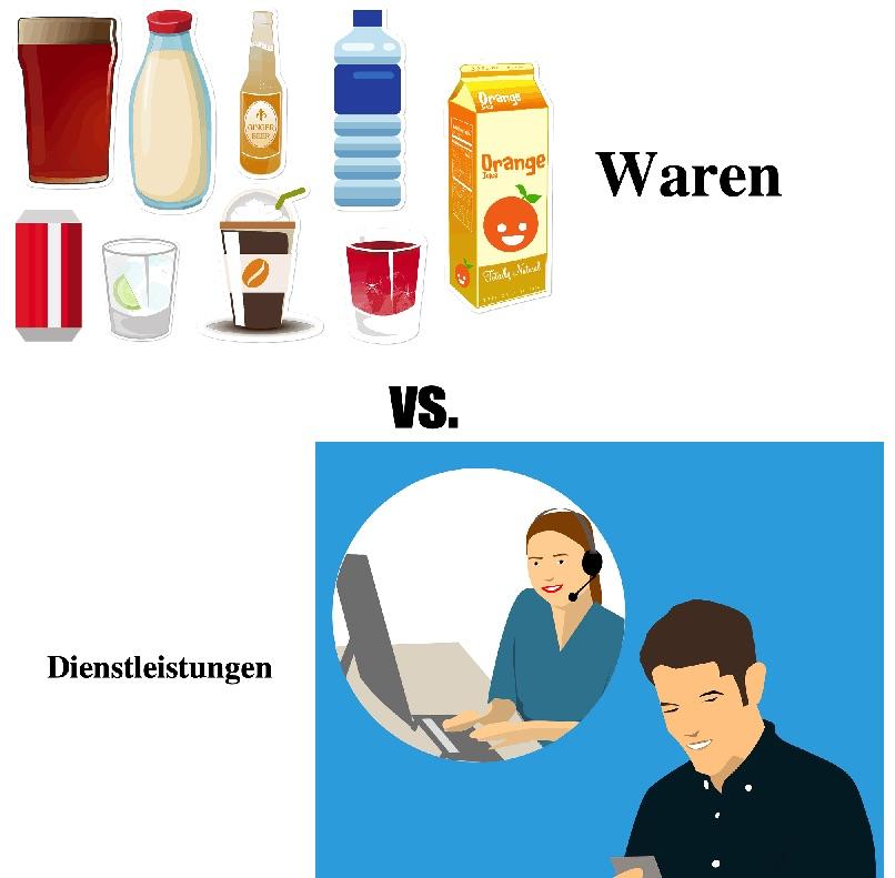 Produkte vs. Dienstleistungen