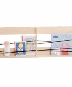 Dobbeltboghylde med elastiksnore | Bookshelf twin size