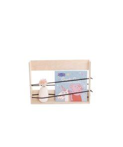 Gry-boghylde med elastikker | Bookshelf