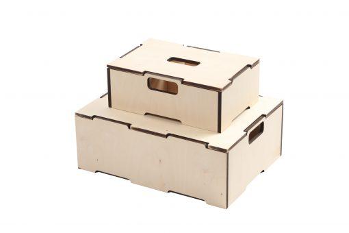 Stabelkasser i træ | Lid for small stacking box