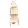Raket-hjørnereol med 3 hylder i birkekrydsfiner | Rocket Corner Shelf