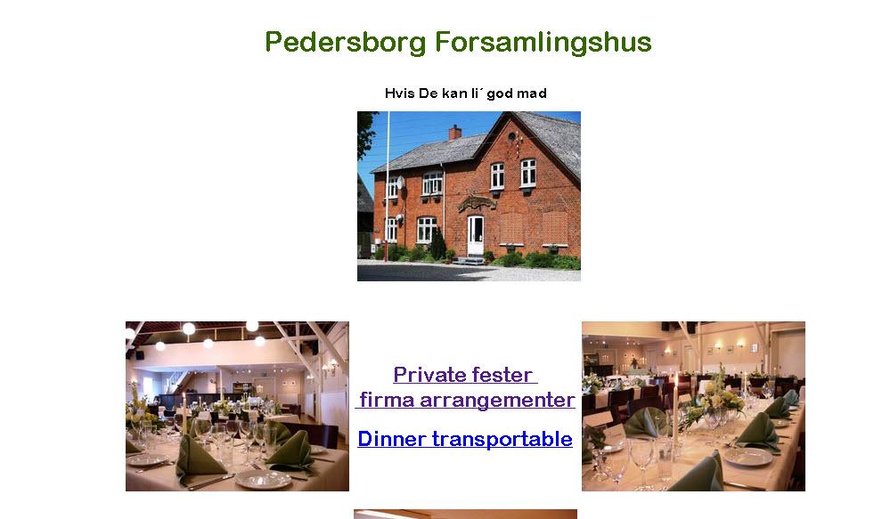 Loppemarked i Pedersborg Forsamlingshus