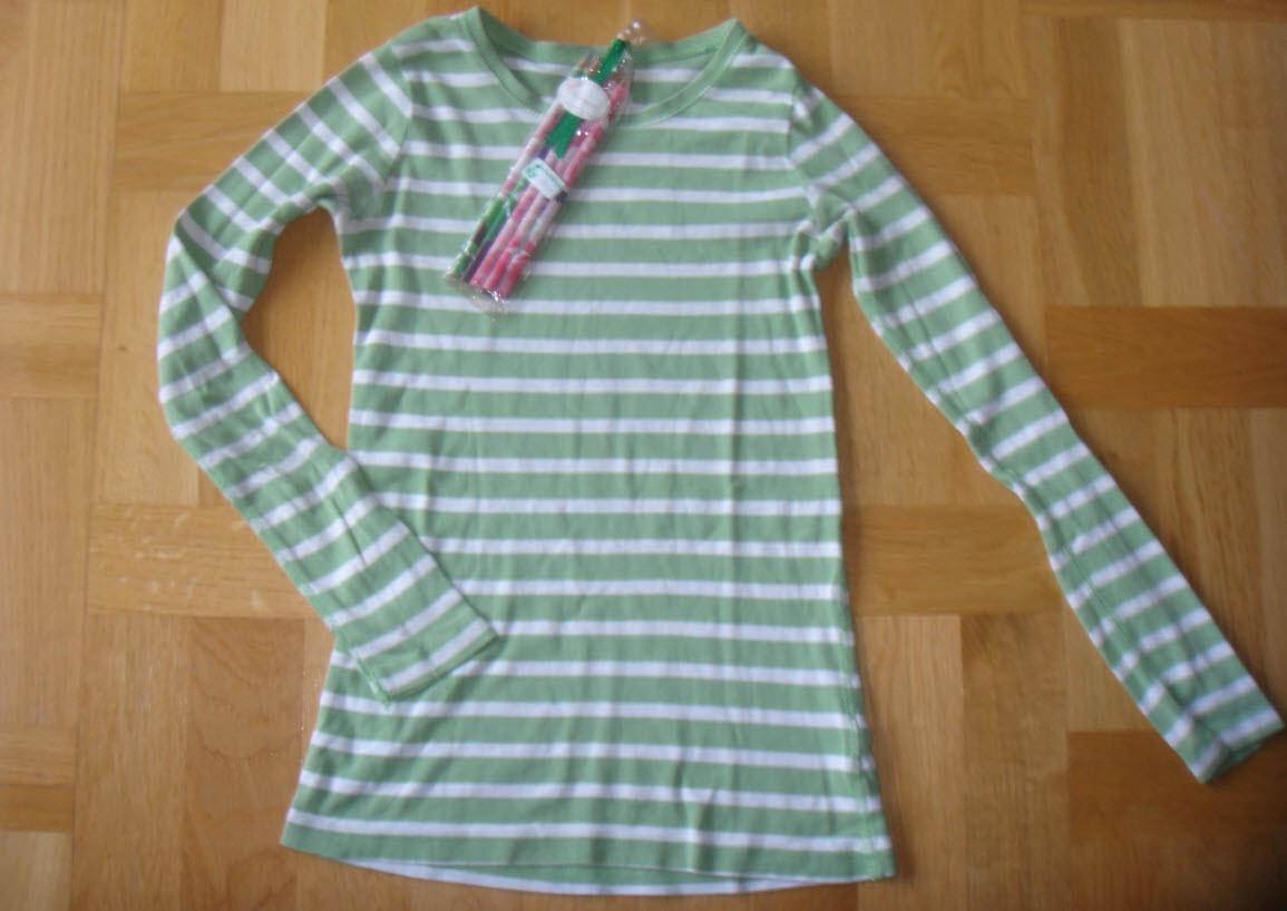 Forårgrøn bluse og matchende blyanter