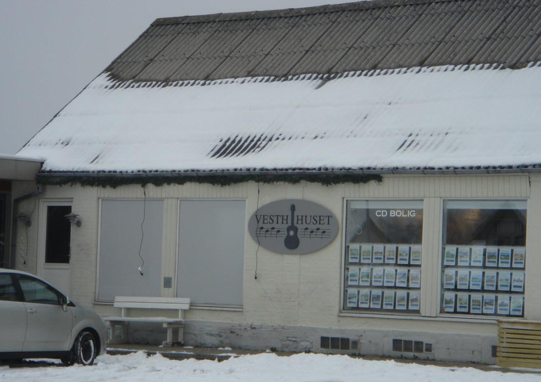 Vesth Huset ved vintertid