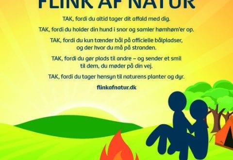Flink af natur, plakat: Friluftsrådet