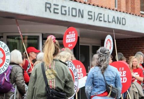 Demonstration ved Regionshuset