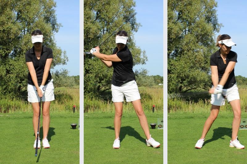 Side step Golfsving