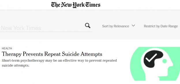 Psykosocial samtaleterapi i de selvmordsforebyggende klinikker
